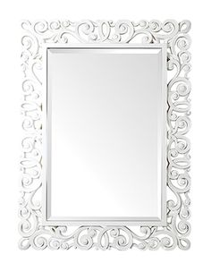 Beveled Wall Mirror in White