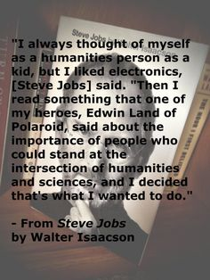 Steve Jobs on the intersection of the humanities and sciences.