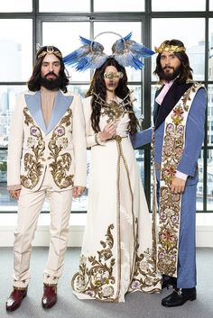 May 7, 2018: Lana Del Rey with Alessandro Michele and Jared Leto at the Met Gala in New York City #LDR