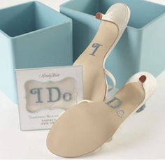 """""""I Do"""" Wedding Shoes Rhinestone Appliqué by Mindy Weiss - Bride's Gifts - Novelty Wedding Gifts - Wedding Favors & Party Supplies - Favors and Flowers Bridal Shoes, Wedding Shoes, Dream Wedding, Wedding Dresses, Perfect Wedding, Fantasy Wedding, Wedding Outfits, Wedding Beauty, Wedding Attire"""