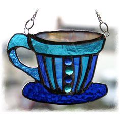 Teacup Stained Glass Suncatcher