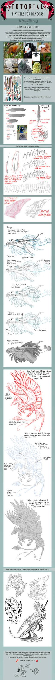 TUTORIAL: Feathers for Dragons by SammyTorres — Fantasy character design Drawing Tutorials, Drawing Techniques, Drawing Tips, Art Tutorials, Drawing Stuff, Animal Drawings, Art Drawings, Drawing Animals, Dragon Anatomy