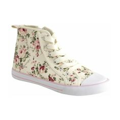 Floral Converse ❤ liked on Polyvore featuring sneakers