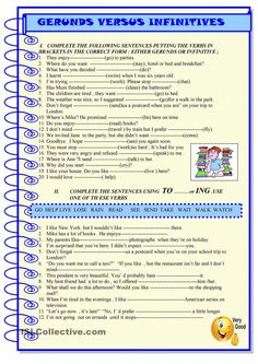 Gerunds vs infinitives :practice. ESL worksheet of the day by sylviepieddaignel. March 13, 2015