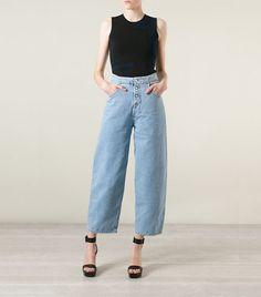 MM6 Maison Margiela Wide Leg Jeans