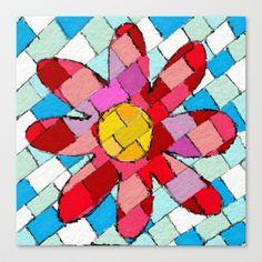 Flower Stretched Canvas by Escrevendo e Semeando - $85.00