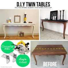 DIY 1 table to 2 consoles
