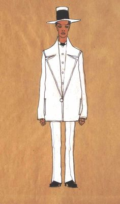 Self-portrait with white suit(Selbstbildnis im weißen Modeanzug) - Egon Schiele for more Suited Schiele click here