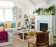 Bright and colorful surfer-chic beach house...Dream-like, love it!!
