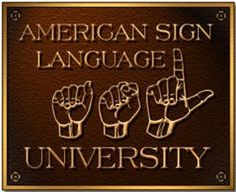 Free American Sign Language Course : earns credit for high school The American Sign Language University offers both ASL I and ASL II on their site, free. Each course equals credit for American high school, 6 CEUs, or 4 University semester hour credits. Asl Sign Language, American Sign Language, Learn Sign Language Free, Language Classes, Language Lessons, Second Language, Language Arts, Learn To Sign, Online Signs