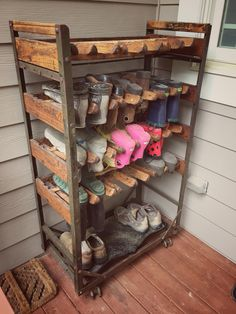 Put This Old Factory Shoe Rack Back In Business! Boot StorageBoot ...