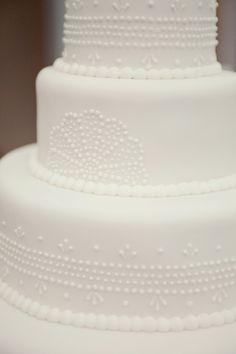 Art Deco Wedding Cake - Intricate Detail
