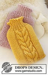 DROPS Extra - Free knitting patterns and crochet patterns by DROPS Design Loom Knitting, Knitting Patterns Free, Knit Patterns, Free Knitting, Baby Knitting, Free Pattern, Drops Design, Bottle Cover, Tear