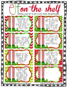 Elf on the Shelf Ideas and FREE Elf on the Shelf Printable Notes on Frugal Coupon Living.