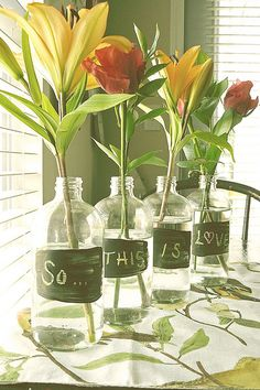 Such a great way to display your flowers!