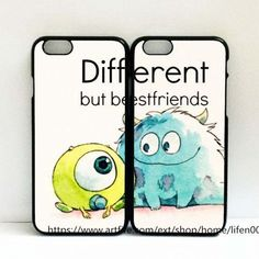 different but bestfriends phone couple case for iphone 6/6S case via Lifen00 #iphone6cases, #iphone6case,