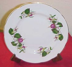 "Regency Bone China fuchsia plate - Plate is about 8"" in diameter [$19,99]"