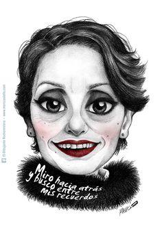 Caricatura de Luz Casal, por Marc Castells Lluch (El Dibujante Rockanrolero)