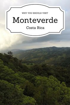 Here's a handful of pictures to prove why you should put Monteverde Costa Rica on your bucket list.
