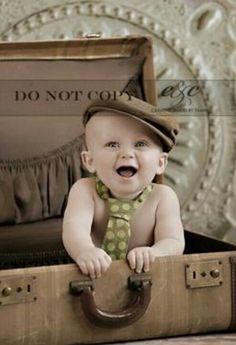 Kinderfoto vintage Koffer