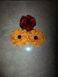 Ribbon flowers Crochet Earrings, Ribbon, Flowers, Jewelry, Tape, Jewlery, Jewerly, Band, Schmuck
