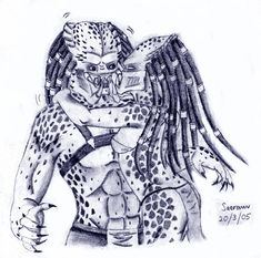 Taught a lesson by Saera-Song on DeviantArt Aliens Colonial Marines, Warrior Drawing, Predator Alien, Fantasy Races, Alien Art, Xenomorph, Sci Fi, Horror, Creatures