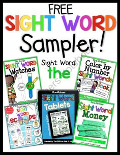 Sight Word Sampler (FREE) from TheMoffattGirls on TeachersNotebook.com (8 pages)  - A FREE SIght Word Sampler that makes learning sight words FUN and hands-on!