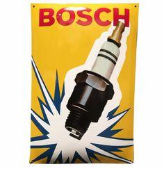 Bosch Spark Plug Porcelain Sign 60 x 40 cm