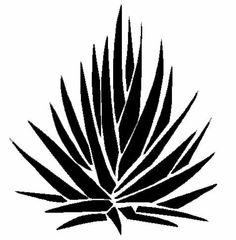 agave stencil - Google Search