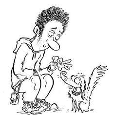 Well hello there little fella! Cartoon for StreamZ dog collars website. http://ift.tt/2lI9pLx  #dog #collar #puppy #doggy #cartoon #blackandwhite #linedrawing #illustration #art #artist