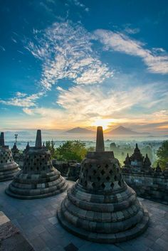 The Borobudur Temple in Indonesia is beyond breathtaking