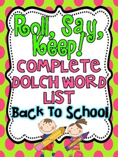 Roll, Say, Keep is always a favorite!!Included:Cover page-you can adhere to a file folder or an envelope to store the activity in.Themed Ga...