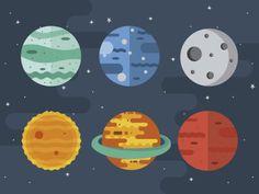 Planets by Mariela Pena | Dribbble