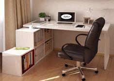 escritorio moderno en melamina con repisa giratoria