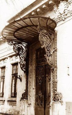 Covered art nouveau Romanian door