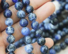 6mm sodalite round smooth full strand blue beads natural gemstone aa quality by 615supply on Etsy https://www.etsy.com/listing/249966449/6mm-sodalite-round-smooth-full-strand