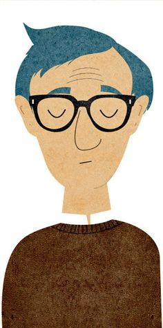 Woody Allen (artist unknown)
