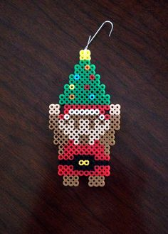 Legend of Zelda Inspired 8 Bit Perler Link Christmas Ornament via eb.perler. Click on the image to see more!