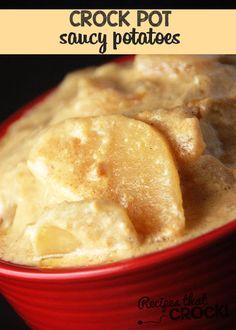 Saucy Crock Pot Potatoes Recipe on Yummly. @yummly #recipe