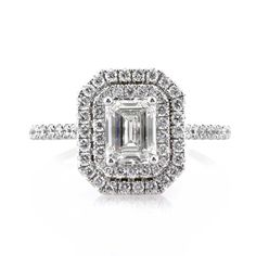 Mark Broumand 1.57ct Emerald Cut Diamond Engagement Ring