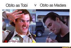 Obito as Tobi v Obito as Madara - iFunny :) Naruto Akatsuki Funny, Naruto Run, Naruto Comic, Anime Naruto, Naruto Funny Moments, Funny Naruto Memes, Stupid Funny Memes, Funny Relatable Memes, Naruto Uzumaki Shippuden