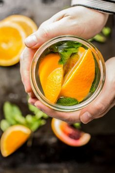 Fresh Orange and Mint Tea