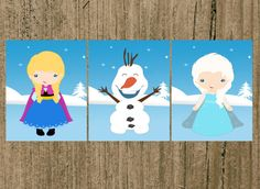 FROZEN Snow Princess Inspired Nursery Prints by MoreThanWords17