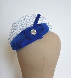 Handmade Cocktail Fascinator Pillbox Hat with veil by shixiaoying, $36.99