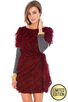 Goddiva Limited Edtion Multi Frill Waisted Knitted Dress £38  #goddivafashion #limitededition