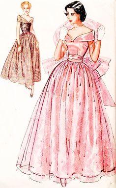 Simplicity party dress pattern.