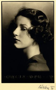 Black and white photograph of Caroline Wiess Law turned to the left, 1933