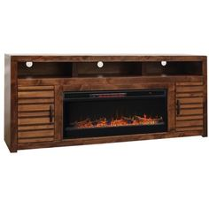 Legends Furniture Sausalito 78 in. TheLegends Furniture Sausalito 78 in. Fireplace TV Stand brings stylish functionality to any living space. This TV stand features a select wood and veneer construction with a beautiful walnut finish.