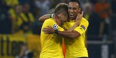 Champions League - Aubameyang-inspired Dortmund bludgeon poor Arsenal in Group D opener