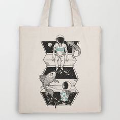 Space Between Tote Bag by Norman Duenas - $18.00